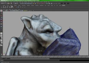 Gargoyle Model in Maya